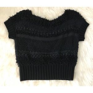 FREE PEOPLE black fluffy sweater